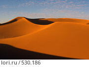 Купить «Пустыня на закате, Эрг Чебби, Сахара, Марокко (Erg Chebbi, Morocco)», фото № 530186, снято 8 января 2008 г. (c) Max Toporsky / Фотобанк Лори