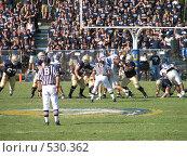 Купить «Американский футбол», фото № 530362, снято 14 октября 2006 г. (c) Yevgeniy Zateychuk / Фотобанк Лори