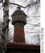 Символ бывшего Кранца, водонапорная башня (2007 год). Редакционное фото, фотограф Александр Новиков / Фотобанк Лори