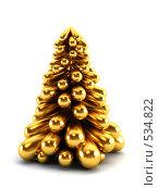Символическая новогодняя елка. Стоковая иллюстрация, иллюстратор Дмитрий Кутлаев / Фотобанк Лори