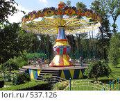 Карусель в парке им. М.Горького, Казахстан (2008 год). Редакционное фото, фотограф Ирина Таболина / Фотобанк Лори