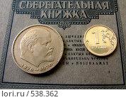В.И. Ленин и новый российский рубль. Стоковое фото, фотограф Олег Бабенко / Фотобанк Лори