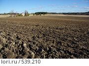 Вспаханное поле, пахотная земля. Стоковое фото, фотограф Алексей Семенов / Фотобанк Лори