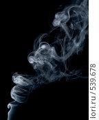 Купить «Дым на черном фоне», фото № 539678, снято 7 июля 2008 г. (c) podfoto / Фотобанк Лори
