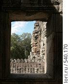 Храм Байон.  Камбоджа (2007 год). Стоковое фото, фотограф Николаенкова Светлана / Фотобанк Лори
