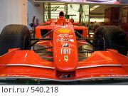 Болид команды Феррари Формула 1 (2008 год). Редакционное фото, фотограф Николай Винокуров / Фотобанк Лори