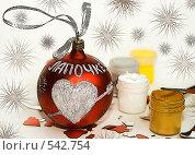 Купить «Новогодняя открытка. Поздравления Лапочке», фото № 542754, снято 2 ноября 2008 г. (c) Наталья Чуб / Фотобанк Лори