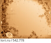 Купить «Рамка с цветком», иллюстрация № 542778 (c) Losevsky Pavel / Фотобанк Лори