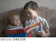 Купить «Чтение книги», фото № 544034, снято 5 ноября 2008 г. (c) Юля Тюмкая / Фотобанк Лори
