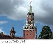 Купить «Москва. Кремль. Спасская башня», эксклюзивное фото № 545594, снято 30 мая 2008 г. (c) lana1501 / Фотобанк Лори