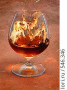 Купить «Рюмка с горящим коньяком. Концепция - сжигающий здоровье напиток», фото № 546346, снято 8 мая 2008 г. (c) Татьяна Белова / Фотобанк Лори