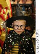 Купить «Мальчик в новогоднем костюме Гарри Поттера», фото № 547914, снято 8 ноября 2007 г. (c) Наталья Окорокова / Фотобанк Лори