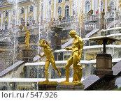 Купить «Петергоф фонтаны», фото № 547926, снято 17 июня 2008 г. (c) Алексей Алексеев / Фотобанк Лори