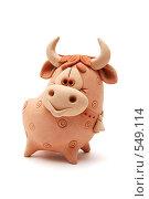 Керамическая фигурка быка. Стоковое фото, фотограф Юлия Машкова / Фотобанк Лори