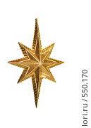 Купить «Новогоднee украшениe звезда», фото № 550170, снято 3 ноября 2008 г. (c) Логинова Елена / Фотобанк Лори