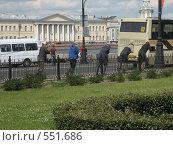Ремонтные работы на набережной у Медного Всадника (2008 год). Редакционное фото, фотограф Виктор / Фотобанк Лори