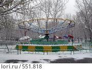 Карусель в зимнем парке (Караганда) (2008 год). Стоковое фото, фотограф Ирина Таболина / Фотобанк Лори