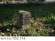Купить «Геодезический пункт. Охраняется государством», фото № 552114, снято 31 октября 2008 г. (c) Антон Алябьев / Фотобанк Лори