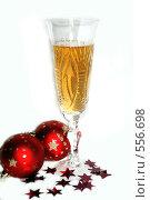 Бокал шампанского. Стоковое фото, фотограф Марина Кириленко / Фотобанк Лори