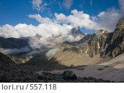 Купить «Панорама Кавказа, вид на Эльбрус с запада», фото № 557118, снято 5 августа 2008 г. (c) Vladimir Fedoroff / Фотобанк Лори