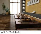 Купить «Интерьер ресторана в азиатском стиле», иллюстрация № 558658 (c) Виктор Застольский / Фотобанк Лори