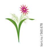 Купить «Аленький цветочек, иллюстрация», иллюстрация № 560678 (c) Владислав Пугачев / Фотобанк Лори