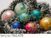 Разноцветные елочные украшения. Стоковое фото, фотограф Ирина Доронина / Фотобанк Лори