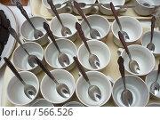 Купить «Чашки и ложки», фото № 566526, снято 14 ноября 2008 г. (c) Олег Гуличев / Фотобанк Лори
