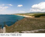Купить «Озеро Байкал. Вид на Сарайский залив», фото № 566610, снято 6 сентября 2008 г. (c) Andrey M / Фотобанк Лори