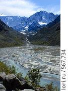 Купить «Алтай. Долина реки Аккем. Вид на Белуху.», фото № 567734, снято 15 апреля 2007 г. (c) Игорь Потапов / Фотобанк Лори