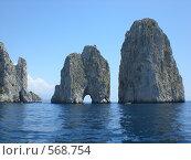 Фаральони, остров Капри, Италия. Стоковое фото, фотограф EVA / Фотобанк Лори