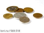 Купить «Монеты различных стран», фото № 569518, снято 14 октября 2008 г. (c) Андрей Рыбачук / Фотобанк Лори