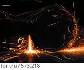 Резка металла. Стоковое фото, фотограф Александр Кралин / Фотобанк Лори