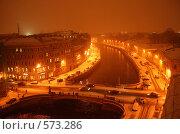 Купить «Оранжевый ночной питерский пейзаж (вид на Красный мост)», фото № 573286, снято 19 ноября 2008 г. (c) Корчагина Полина / Фотобанк Лори