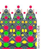Купить «Новогодний абстрактный фон», иллюстрация № 573454 (c) Светлана Кудрина / Фотобанк Лори