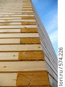 """Купить «Архитектурный угол деревянной стены.Метод """"без единого гвоздя"""".», фото № 574226, снято 6 ноября 2008 г. (c) RedTC / Фотобанк Лори"""