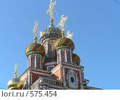 Купола Строгановской церкви в Нижнем Новгороде (2004 год). Стоковое фото, фотограф Татьяна Емельянова / Фотобанк Лори