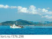 Купить «Вид с борта экскурсионного корабля. Крым, Украина», фото № 576298, снято 12 июля 2008 г. (c) Юрий Брыкайло / Фотобанк Лори