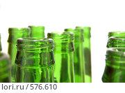 Горлышки пивных бутылок. Стоковое фото, фотограф Владимир Соловьев / Фотобанк Лори