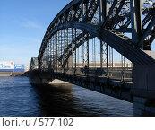 Большеохтинский мост (2007 год). Редакционное фото, фотограф Алексеева Галина / Фотобанк Лори