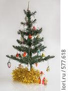 Новогодняя елка с дедом Морозом. Стоковое фото, фотограф Елена Элевтерова / Фотобанк Лори