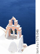Купить «Колокола над морем на Санторини», эксклюзивное фото № 579046, снято 11 августа 2008 г. (c) Яна Королёва / Фотобанк Лори