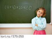 Купить «Девочка у классной доски в школе», фото № 579050, снято 25 октября 2008 г. (c) Вадим Пономаренко / Фотобанк Лори