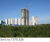 Купить «Строительство жилых домов в Крылатском», фото № 579326, снято 7 апреля 2020 г. (c) Корчагина Полина / Фотобанк Лори
