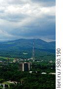 Купить «Нальчик. Вид на город с горы Кизиловка», фото № 580190, снято 18 августа 2018 г. (c) Александр Тараканов / Фотобанк Лори