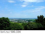 Купить «Нальчик. Вид на город с горы Кизиловка», фото № 580334, снято 22 июня 2008 г. (c) Александр Тараканов / Фотобанк Лори