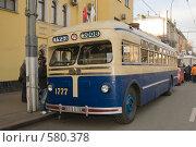 Купить «Московский троллейбус МТБ-82Д на улице Москвы», фото № 580378, снято 22 ноября 2008 г. (c) Владимир Воякин / Фотобанк Лори
