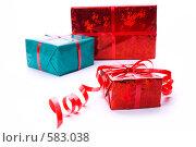 Купить «Коробки с подарками», фото № 583038, снято 26 января 2006 г. (c) Юлия Сайганова / Фотобанк Лори