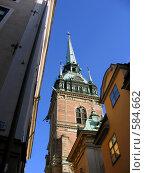 Башня в Стокгольме (2006 год). Стоковое фото, фотограф Наталья Ничепорук / Фотобанк Лори