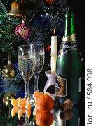 Купить «Новогодняя открытка», фото № 584998, снято 28 декабря 2007 г. (c) Павел Преснов / Фотобанк Лори